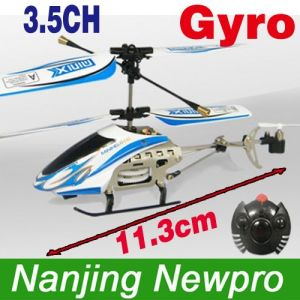 Mini 11.3cm 3.5ch Metal Infrared Coaxial RC Helicopter W/ Gyro+Throttle Lock+LED Lights (GS4004T)