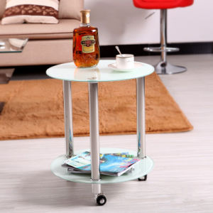 Tempered Glass Side Table Projector