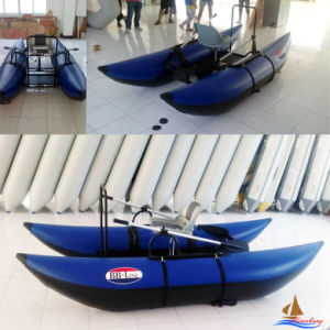 Professional Blue Single Person Pontoon Boat pictures & photos