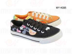 Girls′ Canvas Shoes (MY-K095)
