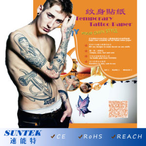 Temporary Tattoos with Water Transfer Tattoo Paper (CE, RoHS, REACH) pictures & photos
