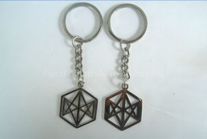 Bright Nickel Metal Keychain with Custom Logo pictures & photos