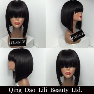 8A Hot Short Bob Cut Wigs with Baby Hair Glueless Virgin Brazilian Short Full Lace Human Hair Wigs Bob for Black Women pictures & photos