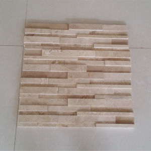 Morden Design 3D Beige Travertine Mosaic for Wall and Floor Tile pictures & photos