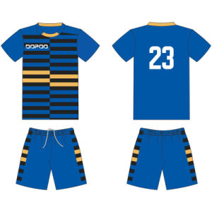 Custom Design Sublimated Football Soccer T Shirt Uniform for Team pictures & photos