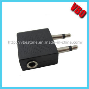 1 to 2 Airplane 3.5mm Dual Pin Adapter, Airline Adapter pictures & photos