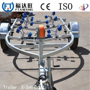 Galvnaized Single Axle Boat Trailer with Roller pictures & photos