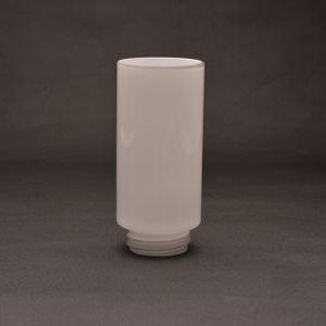 Handblown Threaded Opal Glass Lamp Shade