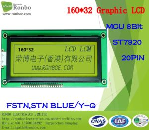 160X32 MCU Graphic LCD Module, St7920, 20pin, for POS, Doorbell, Medical, Cars pictures & photos