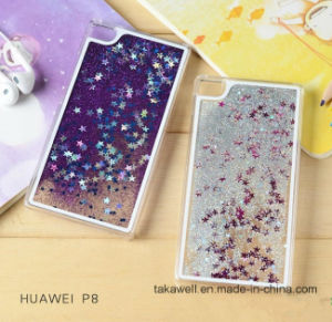 Cheap Mobile Phone Accessory Liquid Star Sand Cell Phone Cover Case for Huawei P8/P9 Quicksand Phone Case pictures & photos
