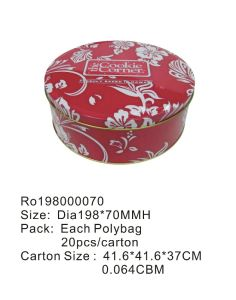 Round Food Tin Box Can Packing Cookies/Chocolate/Biscuit/Tea/Gift/Candy pictures & photos