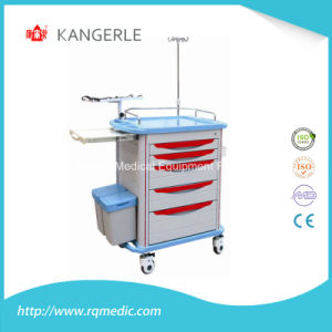 Ce/ISO ABS Crash Cart/Hospital Cart/Emergency Trolley pictures & photos