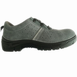 Work Safety Footwear with Upper Suede Leather Sole PU