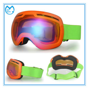 Adult Frameless Ultraviolet Three Layer Foam Snowboard Goggles pictures & photos