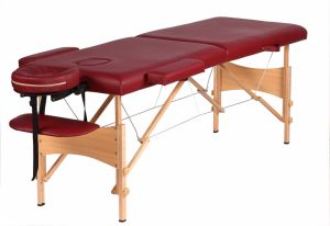 MB-001 Wholesale 2 Sections Salon Facial Wood Folding Bed with Price for Sale pictures & photos