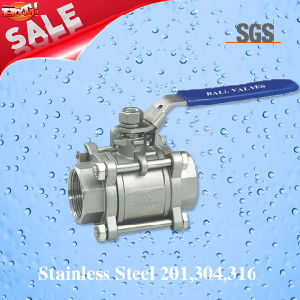 3PC Female Threaded Ball Valve, Stainless Steel 201, 304, 316 Valve, Q11f Ball Valve pictures & photos