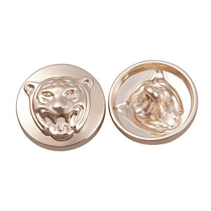 Zinc Alloy Button with Tiger Head Logo pictures & photos