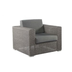 Well Furnir T-003 Grey Shower Proof Round Synthetic Weave Rattan Sofa pictures & photos
