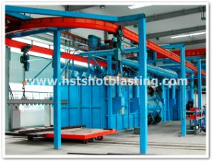 Hanging Hook Conveyor Through Type Casting Deflashing Shot Blasting Machine