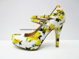 Wholesale Women High Heel Dress Shoes Foowear with Platform pictures & photos