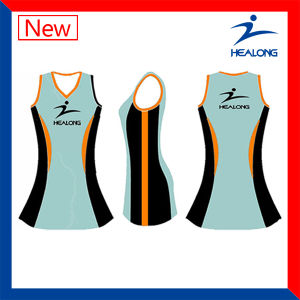 Kids Size Sublimation Custom Netball Dresses pictures & photos