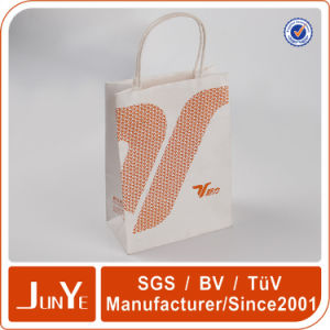 Cheap Custom OEM White Kraft Grocery Carry Bags with Logo