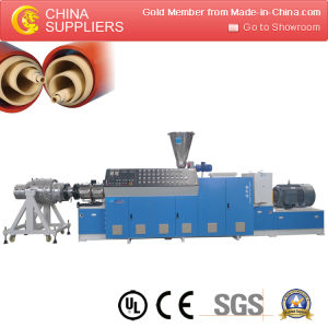 Plastic PVC Wire Trunking / Tube / Pipe Extrusion Making Machine pictures & photos