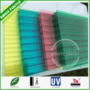 Popular Colored Decoration Material Plastic Polycarbonate Multi-Layer Hollow PC Sheet pictures & photos