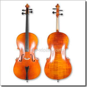 Handmade Flamed Master Spruce Cello (CH150D) pictures & photos