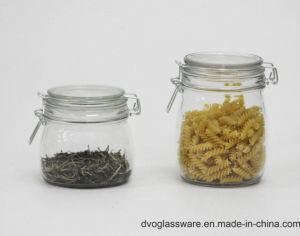Glass Food Storage Jar with Glass Cap