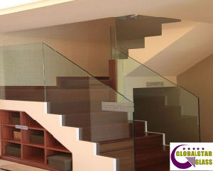 10mm 12mm Frameless Toughened Glass for Stair Balustrade with CCC, AS/NZS2008, CE pictures & photos