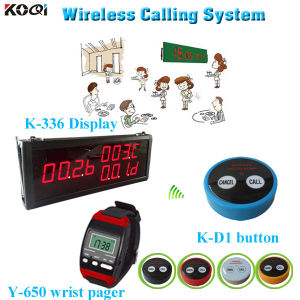 Small Wireless Buzzer 2key Button D2 with Display K-336 and Smart Watch Y-650 Clinic Management System pictures & photos