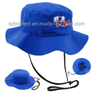 Flower Print Cotton Woven Plain Cloth Leisure Bucket Hat (TRBH14002) pictures & photos