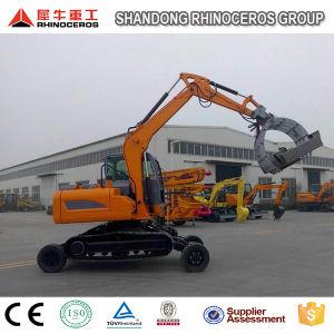 Hydraulic Excavator Wheel Excavator and Crawler Excavator Together pictures & photos
