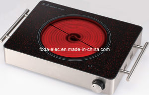 Metal Shell Table-Top Knob-Type Single-Coil Portable Hilight/Hi-Light Ceramic Cooker/Not Induction Stove/Hob Ceramic Cooker (MJ-05H)