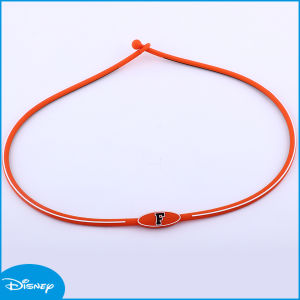 Orange Letter Hot Sale Best Quality Silicone Necklace