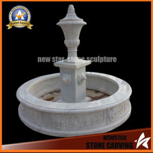 White Marble Fountain for Garden Decoration pictures & photos