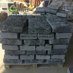 Natural Split+ Chiseled Black Limestone Brick Stone and Corner for Wall pictures & photos