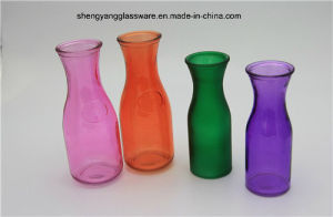 Factory Direct Sale Spray Colors Glass Milk Bottle /Juice Bottle pictures & photos
