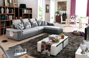 Contemporary Modern Luxury Comfortable Fabric Living Room Sectional Home Furniture L Shape Fabric Sofa pictures & photos
