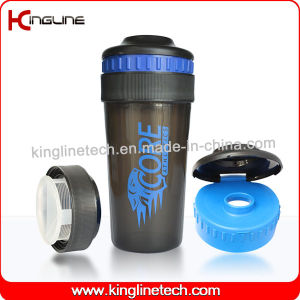 550ml Plastic Protein Shaker Bottle with Lid (KL-7025) pictures & photos