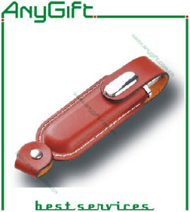 Leather USB Flash Drive with Embossed Logo 28 pictures & photos