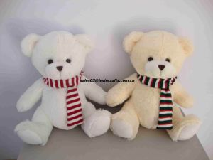 Siting Stuffed Small Soft Teddy Bear with Scarf Toys