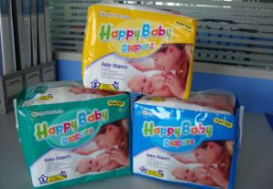 2016 New China Breathable Disposable Baby Diaper (happy baby) pictures & photos