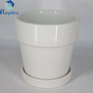 White Color Ceramic Pot for Flower pictures & photos