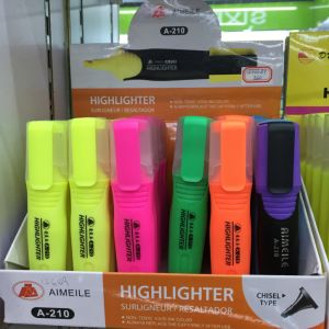 6 Colors Highlighter Pen, Fluorescent Marker Pen with Display Box pictures & photos