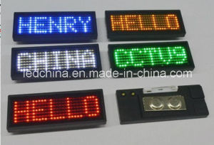 Rechargeable English Version LED Name Badge pictures & photos