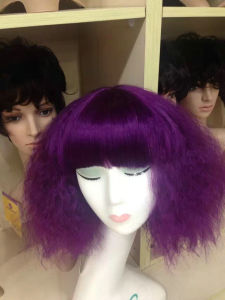 Fancy Color Machine Made Synthetic Wigs pictures & photos