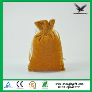 Custom Jewel Packaging Man Made Suede Bag Shanghai Factory Supply pictures & photos