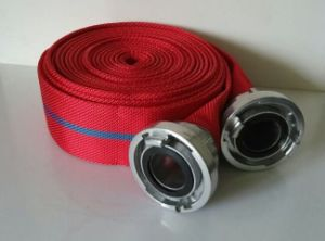 Red Color Fire Hose, PVC Lining Fire Fighting Hose, 1inch 1/12inch 2inch 3inch 4inch 5inch Fire Hose Factory pictures & photos